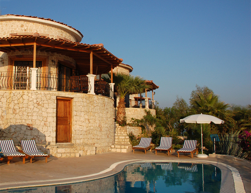 Photo: Pool of Villa Yakomoz, seafront Holiday Home with Pool for 2-4 people in Kas (Province Antalya) at the Lycian Coast of Turkey