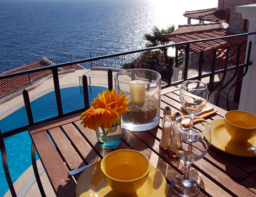 Photo: It is served - Villa Yakomoz, rental seafront Holiday Home with Pool for 2-4 people in Kas (Province Antalya) at the Lycian Coast of Turkey