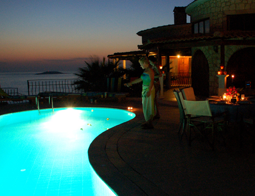 Photo: Pool of Villa Yakomoz, private seafront holiday home with pool at the Turkish Mediterranean sea
