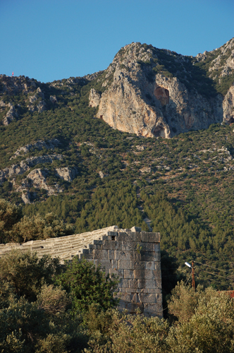 Photo: The ancient Theater in Kas at the Lycian Coast of Turkey