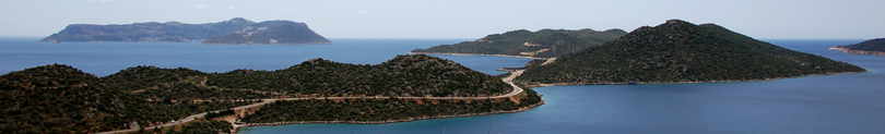 Photo: Peninsula of Kas - Location of Villa Yakomoz, seafront Holiday Home with Pool at the Lycian Coast of Turkey