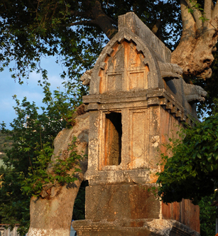 Photo: Lycian Tomb - Kas (Province Antalya) at the Lycian Coast of Turkey
