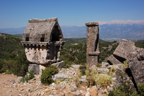 Photo: Ancient City Pinara at the Lycian Coast of Turkey