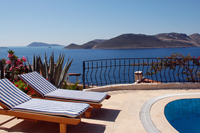 Photo: View from the Poolsite of Villa Yakomoz, Seafront Holiday Home for 2-4 People at the Lycian Coast, Turkey