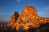 Photo: Uchisar Castle in Cappadocia, Turkey