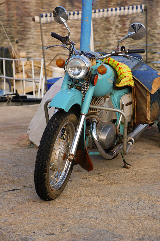 Photo: Turquoise bike at the Turquoise Coast of Turkey