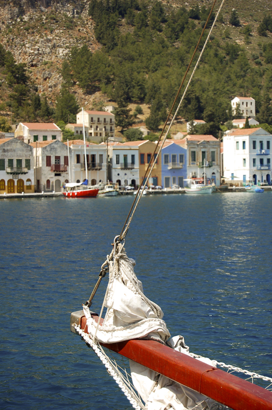 Photo: Small Harbour of Kastellorizo (turkish Meis) opposite Kas at the Lycian Coast of Turkey