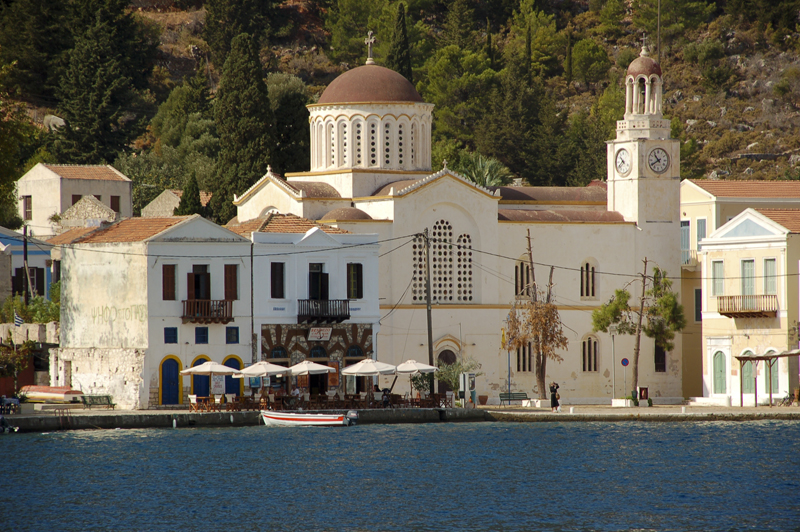 Photo: Church in the Harbour of Kastellorizo, Greek Island (turkish Meis) opposite Kas at the Lycian Coast of Turkey