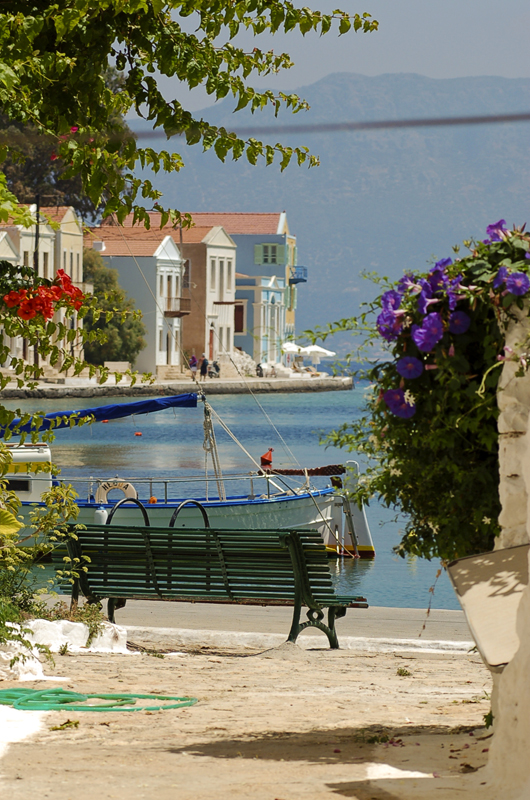 Photo: Small lane of Kastellorizo, Greek Island (turkish Meis) opposite Kas at the Lycian Coast of Turkey