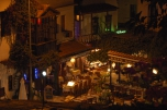 Photo: Restaurants in Kas - The antique Antiphellos at the Lycian Coast of Turkey