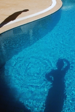 Photo: Shadows - Pool of Villa Yakomoz, private Holiday Home at the Lycian Coast - Kas/Antalya, the insider tip and perfect destination for your individual holidays in Turkey