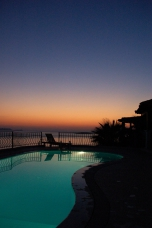 Photo: Sunset - The Pool of Villa Yakomoz, private seafront Holiday Home at the Lycian Coast - Kas/Antalya, the insider tip and perfect destination for your individual holidays in Turkey